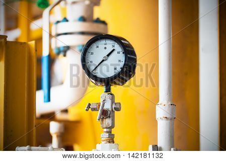 Closeup of pressure gauge show at zero