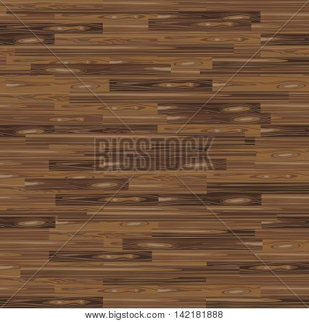 Seamless Parquet Flooring. Parquetry Texture. Floor Background. Vector Wood Pattern. Laminate Flooring with Planks for Your Interior Design. Dark Brown Wood.