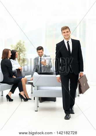 Group of successful business people looking confident