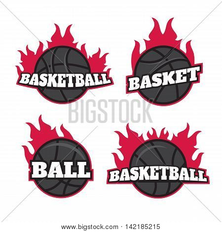 Professional logo for basketball game. Basketball logo templates set. Basketball logotypes sign symbol badge vector