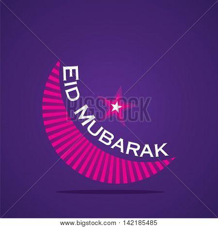 Eid Mubarak Islamic festival greeting or banner design vector