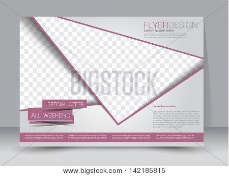 Flyer, Brochure, Billboard Template Design Landscape Orientation For Education, Presentation, Websit