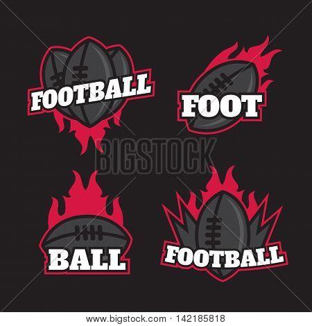 American football logo template collection. American football logotypes sign symbol badge