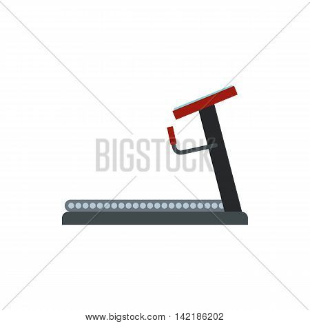 Treadmill icon in flat style on a white background