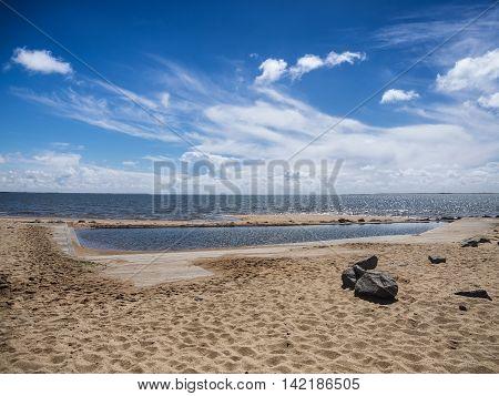 Tidal water pool in Hjerting near Esbjerg Denmark