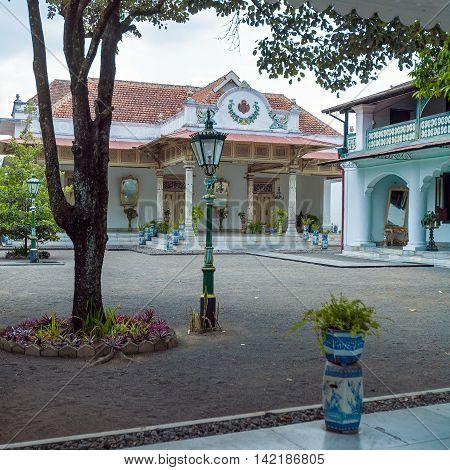 Sultan palace in Yogyakarta Java island Indonesia