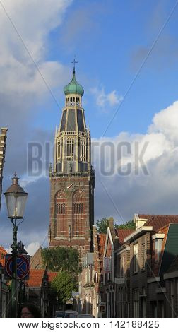 Gothic Church In The Dutch City Of Enkhuizen