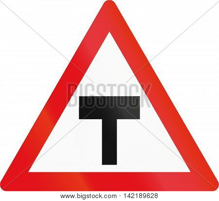 Road Sign Used In The African Country Of Botswana - T-junction