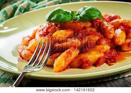 Italian Gnocchi With Tomato Sauce