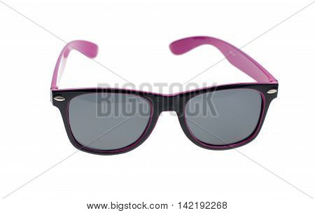purple sun glasses isolated on white background