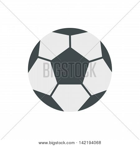 Soccer ball icon in flat style on a white background