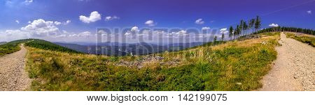 Landscape In The Beskid Mountains.