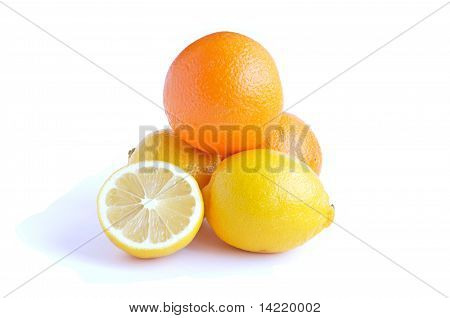 Orange Fruit And Lemon