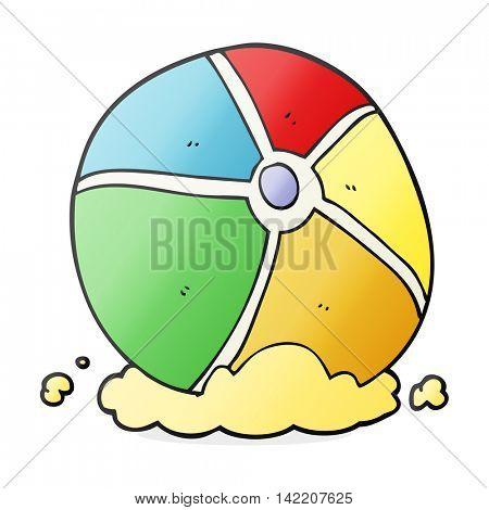 freehand drawn cartoon beach ball