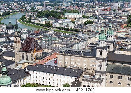 Salzburg Austria view of the historic city
