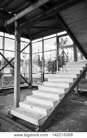 Concrete Stairs Is Under Construction