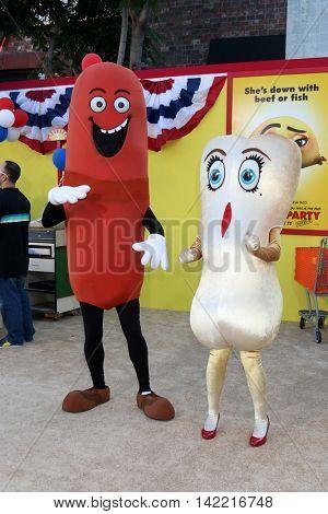 LOS ANGELES - AUG 9:  Sausage, Teresa Taco at the