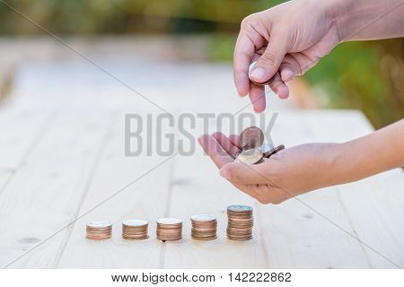 Money in hand, Business growth and wealth concept