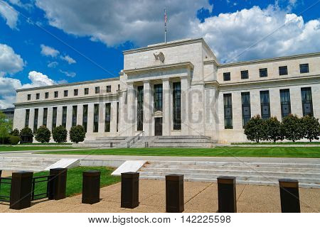 Marriner S. Eccles Federal Reserve Board Building is situated in Washington D.C. USA. It is named after Marriner S. Eccles who was Chairman of the Federal Reserve in 1982.