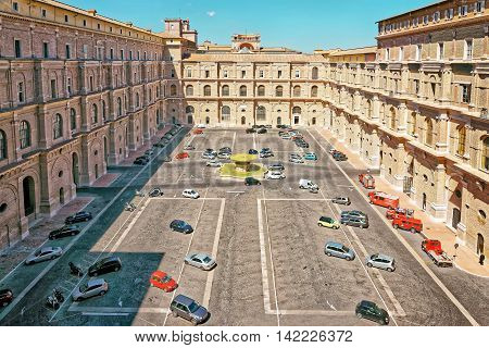 Inside Of The Vatican City In Rome Of Italy