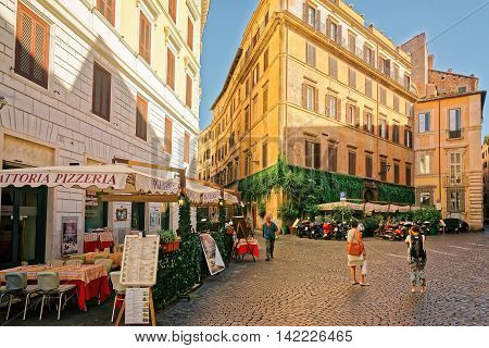 Piazza Del Caprettari In Rome Italy
