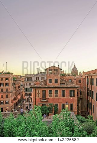 Spanish Steps Of Square Of Spain In Rome Italy