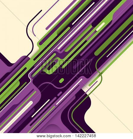 Modern style digital abstraction in color. Vector illustration.