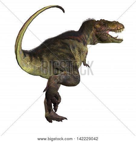 T-Rex Dinosaur Tail 3D Illustration - Tyrannosaurus Rex was a carnivorous dinosaur that lived in the Cretaceous Period of North America.