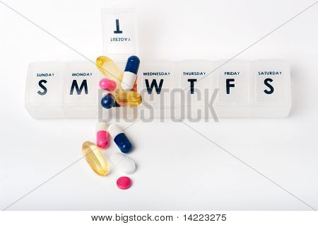 Pillbox Holding Selection Of Medicines