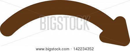 Redo vector icon. Style is contour flat icon symbol, brown color, white background.