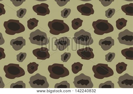 Army Camouflage Pattern Khaki Color. Vector Illustration. EPS10