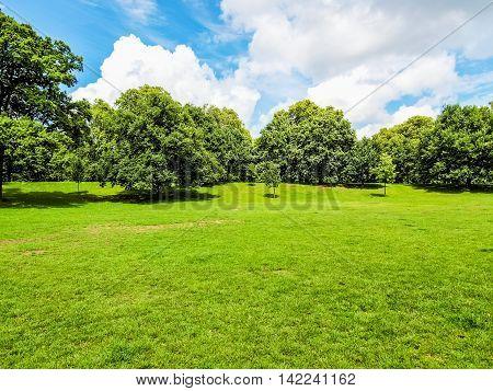 High dynamic range HDR The Kensington Gardens and Hide Park London UK
