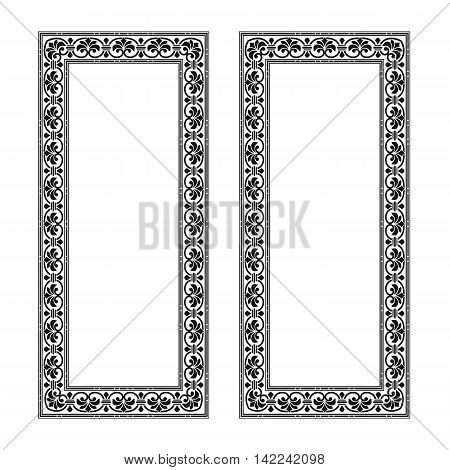 Graphical ornamental frame, decor frame. gate frame, ancient frame, swirl frame, vintage frame. wedding frame, style frame. Vector.