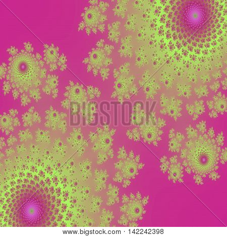 Dual yellow blossom colorful digital image background