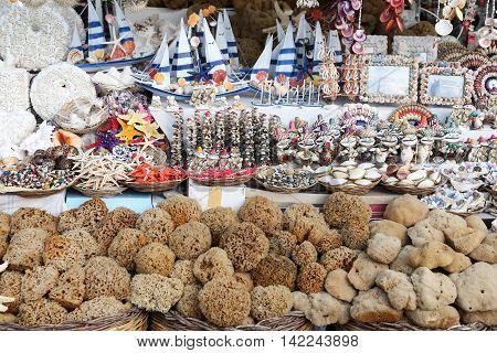 Souvenir in Bodrum Town Aegean Coast of Turkey
