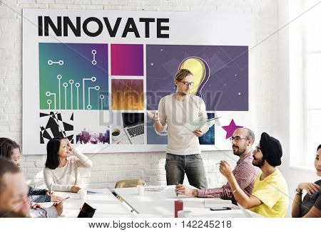 Innovate Technology Cyberspace Network Concept