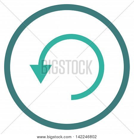 Rotate Ccw vector icon. Style is bicolor flat rounded iconic symbol, rotate ccw icon is drawn with cobalt and cyan colors on a white background.