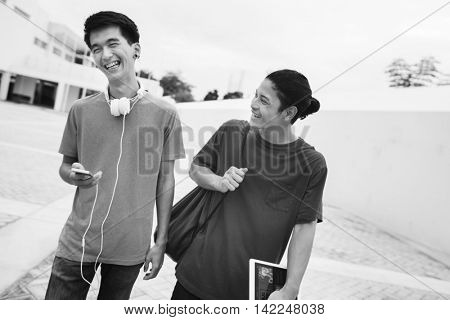 Man Togetherness Fun Leisure Happiness Concept