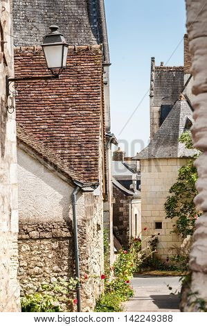 Scene in Crissay-sur-Manse typical French village with charming and romantic images and vistas village in the Loire Valley.