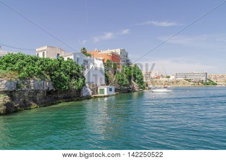 The port of Mahon on the Spanish Balearic island of Menorca