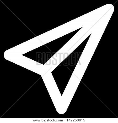 Freelance vector icon. Style is linear flat icon symbol, white color, black background.