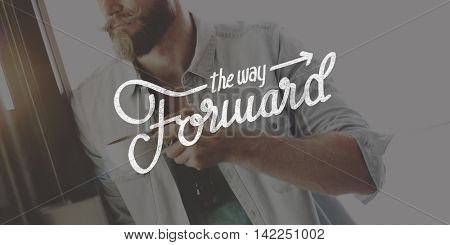 The Way Forward Aspirations Goals Target Development Concept