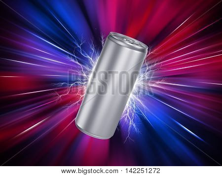 Energy Drink Can Template. 3d model render