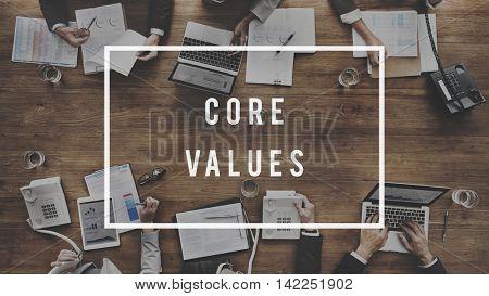 Core Values Principles Morals Concept