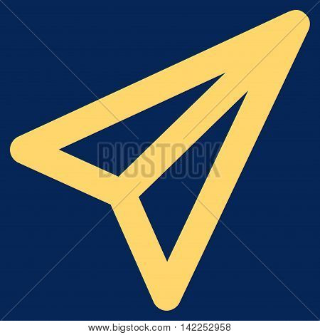 Freelance vector icon. Style is stroke flat icon symbol, yellow color, blue background.