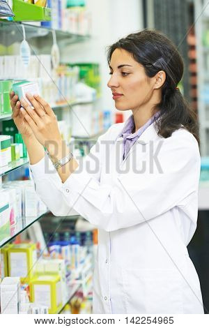 Pharmacutical chemist in drugstore