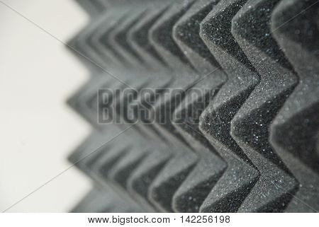 sound absorbing panel from gray foam rubber