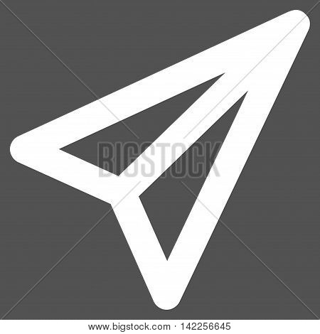Freelance vector icon. Style is outline flat icon symbol, white color, gray background.