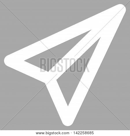 Freelance vector icon. Style is stroke flat icon symbol, white color, silver background.