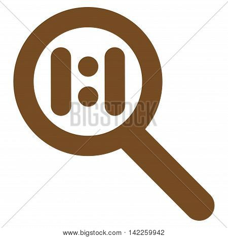 Zoom Actual Scale vector icon. Style is linear flat icon symbol, brown color, white background.